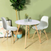 Kép 2/3 - 4 db modern étkezőszék asztallal - fehér