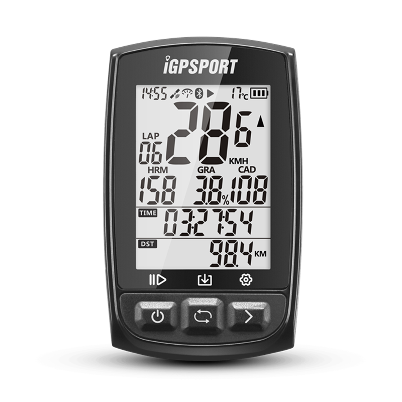iGPSport IGS50E GPS computer, Vezeték nélküli, fekete