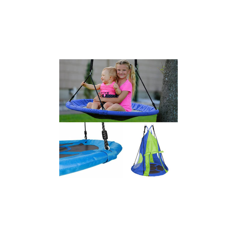 Fészekhinta sátorral 90 cm, kék