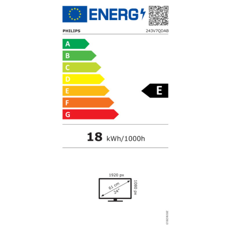 "Mon Philips 23,8"" 243V7QDAB/00 - IPS LED"