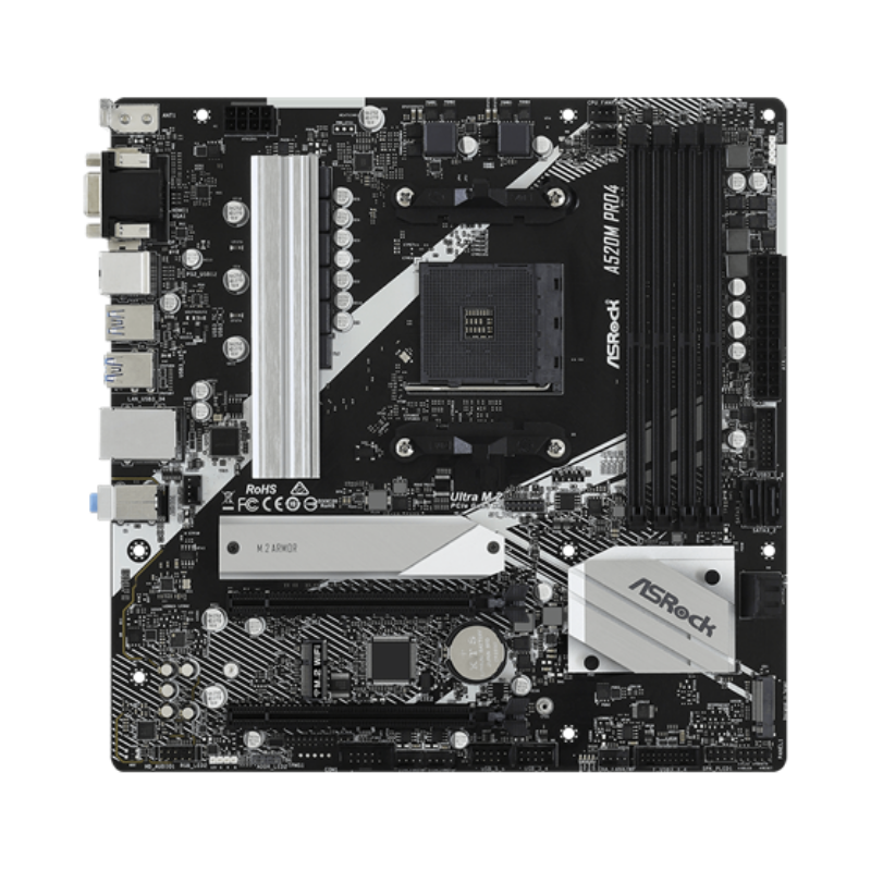 AL ASRock sAM4 A520M Pro4