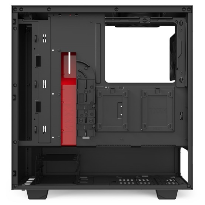HÁZ NZXT Midi - H510 Matt fekete/piros - CA-H510B-BR